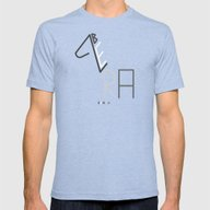 Z- Zebra Mens Fitted Tee Tri-Blue SMALL
