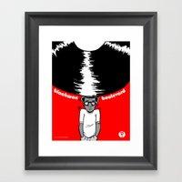 Blackwax Boulevard Poste… Framed Art Print