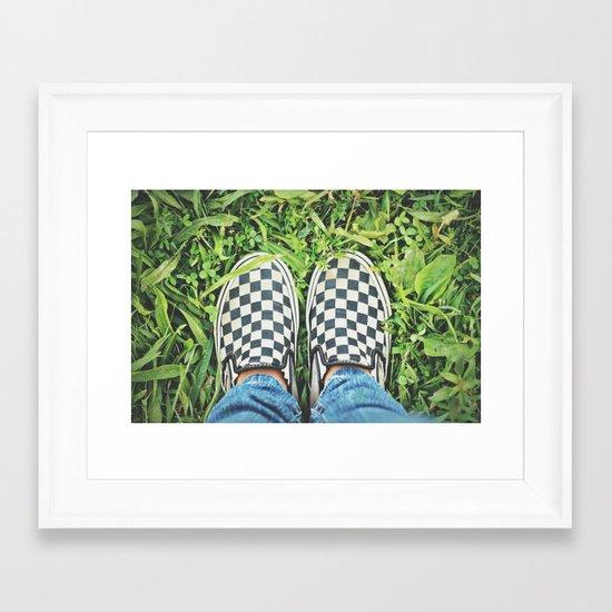 Checkered Vans Framed Art Print