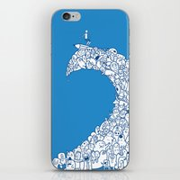Doodle Wave iPhone & iPod Skin