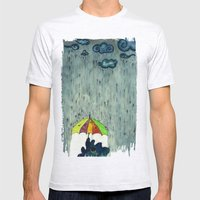 Oh! Raining Night Mens Fitted Tee Ash Grey SMALL