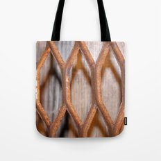 Rusted Steel Faded Wood Tote Bag