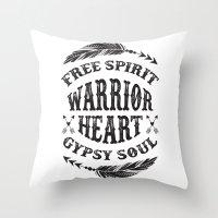 Warrior Heart Throw Pillow