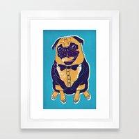 Henry The Pug Framed Art Print
