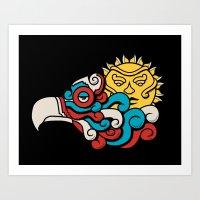 Eagle Sun Art Print