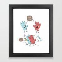 High Five (gloves Versio… Framed Art Print