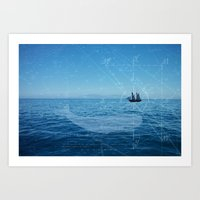 Old Man And The Sea Art Print