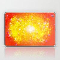 Shimmering Stars Orange Laptop & iPad Skin