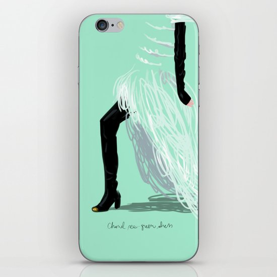 #theFIserie: Chanel sea-green dress iPhone & iPod Skin