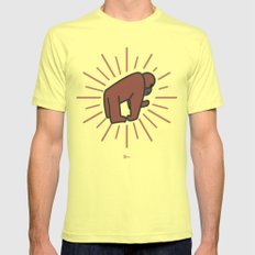 Radiant Orang Utan. Mens Fitted Tee Lemon SMALL