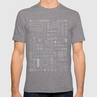 Babylon Mens Fitted Tee Tri-Grey SMALL