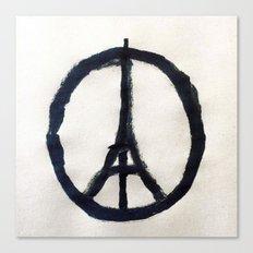 Peace for Paris Canvas Print