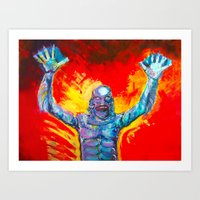Creature From The Black … Art Print