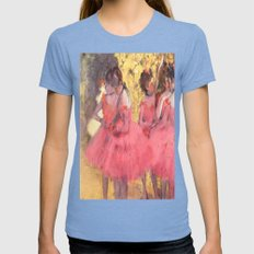 The Pink Dancers Before the Ballet Womens Fitted Tee Tri-Blue SMALL