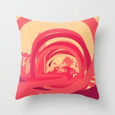 Red 1 Throw Pillow