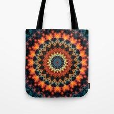 Fundamental Spiral Mandala Tote Bag