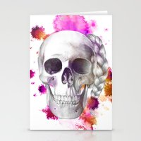Braided Skull Stationery Cards