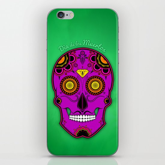 dia de los muertos (sugar skull) iPhone & iPod Skin