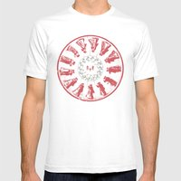 Dancing With Hannibal Mens Fitted Tee White SMALL