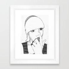 Good pick Framed Art Print