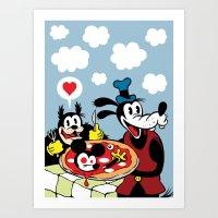 MICKEY'S PIZZA Art Print