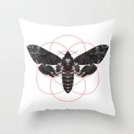 Sacred Death's-head Hawk… Throw Pillow