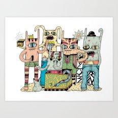 Gangsta Family Art Print