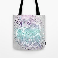 Glam Fashion Owls Tote Bag