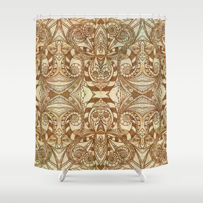 Indian Style G236 Shower Curtain By MedusArt