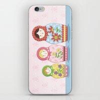 Matryoshka Sisters iPhone & iPod Skin