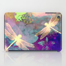 Painting Dragonflies and Orchids A iPad Case