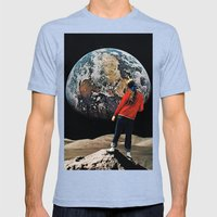 Equilibrium Mens Fitted Tee Tri-Blue SMALL