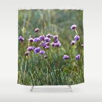 Purple Summer Meadow Shower Curtain