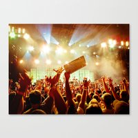 The Crowd At Pearl Jam 2… Canvas Print