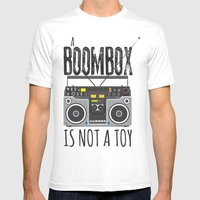 A Boombox Is Not A Toy Mens Fitted Tee White SMALL