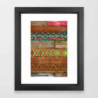Framed Art Print featuring Indian Wood by Diego Tirigall