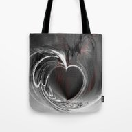 Heart Black Tote Bag