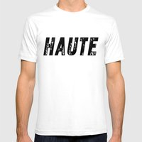 Haute - High Fashion Mens Fitted Tee White SMALL