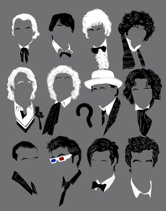Twelve Doctors Art Print