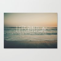 Let's Run Away By Laura … Canvas Print