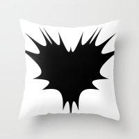BLACK HEART Throw Pillow