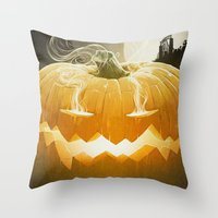 Pumpkin I. Throw Pillow