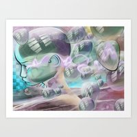 Bubble Head Art Print
