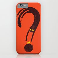 iPhone & iPod Case featuring Curiosity Exploded the Cat by Mitch Loidolt