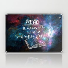 Read for a better universe Laptop & iPad Skin