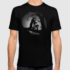 A Wrong Turn Mens Fitted Tee Black SMALL
