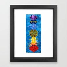 Chakra Art Print Yoga Art Energy Sacred geometry chakra symbols chakra colors Framed Art Print