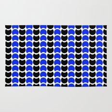 HobNob BlueBlack Print, Canvas and Laptop/iPad Skin Rug