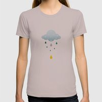 I Love Rainy Days Womens Fitted Tee Cinder SMALL