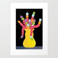 Hot Dog Vase Art Print